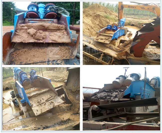 The fine sand recycling machine made by Luoyang LZZG
