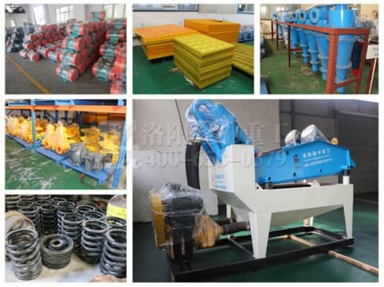 Replacement of fine sand recovery equipment accessories