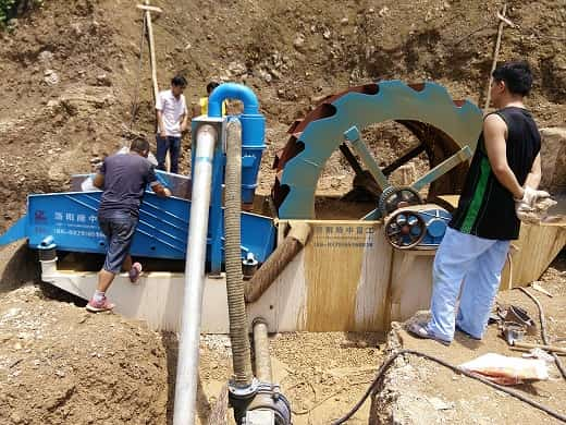 Installation of new fine sand recovery machine.