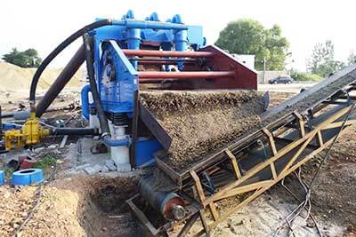 compact sand washer