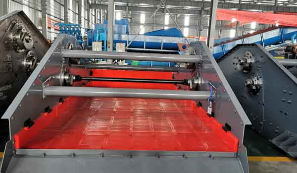sealing ring of the vibrating dewatering screen